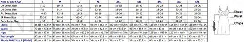 Nine X - Joli ensemble débardeur et short - différentes couleurs -S-6XL Made in EU g Rose