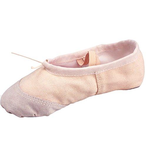 Oasap Mädchen Tanz Canvas Ballettschuhe Black