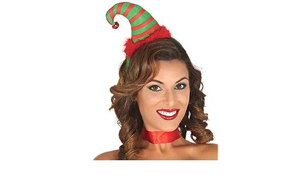 Cerchietto Elfo Cappellino Gnomo Natale Accessori Travestimento 42383