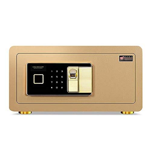 XIN Huella digital Caja de seguridad, Caja fuerte a prueba de fuego...