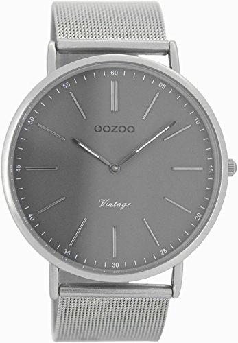 Oozoo Vintage Ultra Slim Metallband 44 MM Silber/Grau C7382