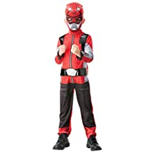 Rubie's Official Power Rangers, Beast Morphers Costume - Red Ranger Deluxe Childs Costume Small, 3-4 years