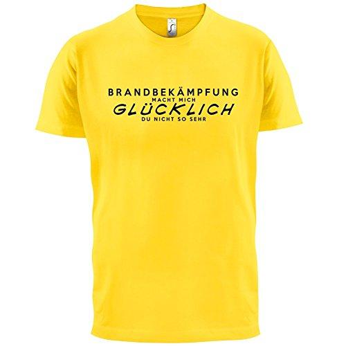 Brandbekämpfung macht mich glücklich - Herren T-Shirt - 13 Farben Gelb