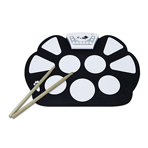 somaer-9-pad-flexiable-silicon-roll-up-electronic-drum-kit-with-drum-sticks-and-sustain-pedal-for-ch