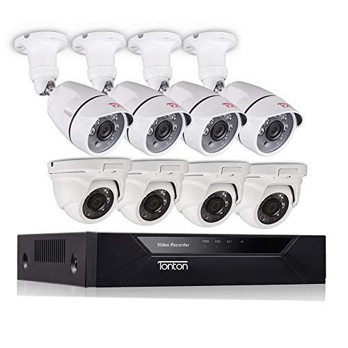 Tonton 8CH Full HD 1080P TVI Sistema videovigilancia