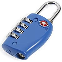 JZK® 2 pz lucchetti a combinazione lucchetto di sicurezza codificato blocco da viaggio 4 dial combinazioni approvato dal TSA security per valigia bagaglio cassetto