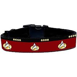Star Trek The Next Generation TNG Collar Perro Hecho A Mano Talla M HandMade Dog Collar