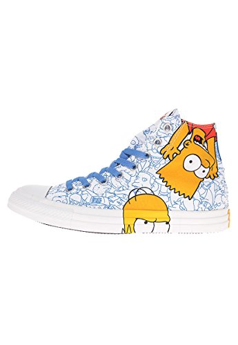 Converse AS Simpson Hi Can Blanc Multi Blanc