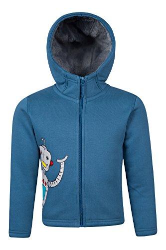 Mountain Warehouse Sweat-shirts à capuche garçon Personnage Robot Zippé Capuche Bleu Canard 7-8 ANS