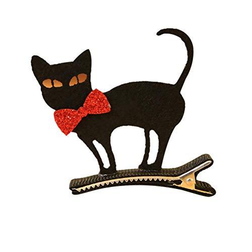 Dastrues Halloween Hair Alligator Hair Clip Ghost/Witch Hat/Pumpkin/Cat Baby Hairpin Haaraccessoires Gatto Nero (Halloween Gatto Di)