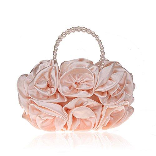 I nuovi fiori di perline sacchetti della borsa di sera si vestono sacchetto del vestito da banchetto borsetta borsa da sera ( Colore : Viola ) Champagne