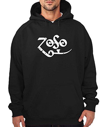 Zoso Felpa con cappuccio nero Black M