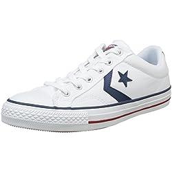 Converse Lifestyle Star Player Ox Zapatillas, Unisex Adulto, Blanco White/Navy 111, 42 EU
