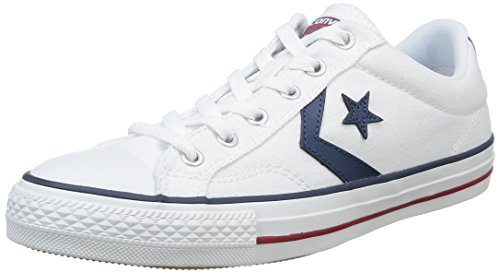 2 - Converse Lifestyle Star Player Ox Zapatillas, Unisex Adulto, Blanco White/Navy 111, 42 EU