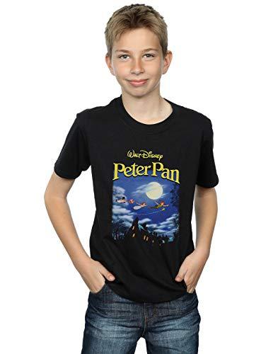 Disney Jungen Peter Pan Come with Me Homage T-Shirt Schwarz 9-11 Years - Kinder T-shirt Pan Peter