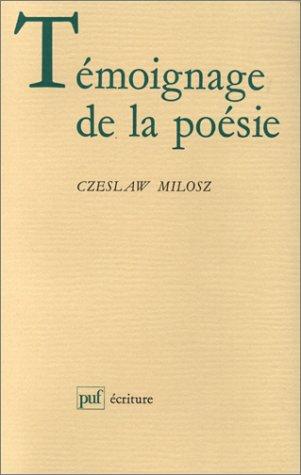 Témoignage de la poésie
