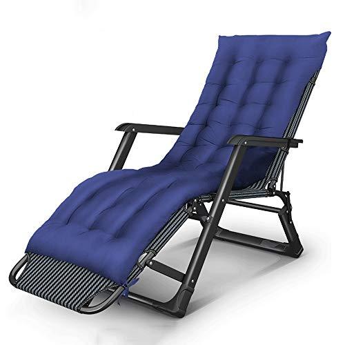LCTCDD Zero Gravity Recliner gepolsterter Patio-Liegestuhl mit Verstellbarer Kopfstützenstütze, gepolsterter Zero-Liegestuhl Patio-Klapphalter für die Veranda im Freien (Color : G)