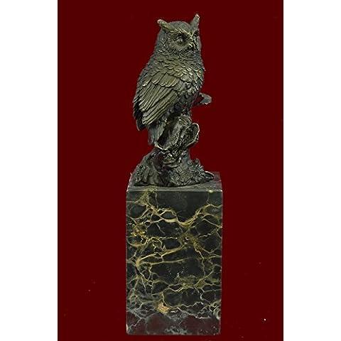 Escultura bronce estatua...Envío gratis...Mármol original Viena Owl Bird libro Fin del sujetalibros(AL-280-JP)Estatuas estatuilla estatuillas desnuda Oficina y Decoración del hogar Coleccionables