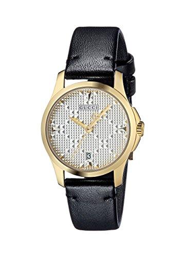 Gucci Damen Datum klassisch Quarz Uhr mit Leder Armband YA126571