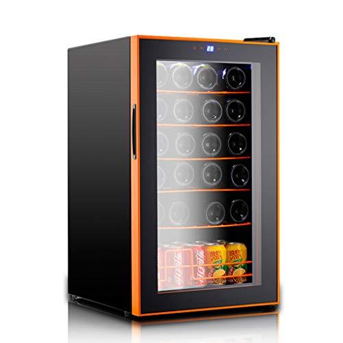 Blau Touch-screen-thermostate (Sonw Yang Freistehender Touchscreen-Weinkühlschrank mit elektronischer Steuerung, Weinkühler mit konstanter Temperatur und Schloss und LED-Kaltlichtquelle für bis zu 24 Standardflaschen)