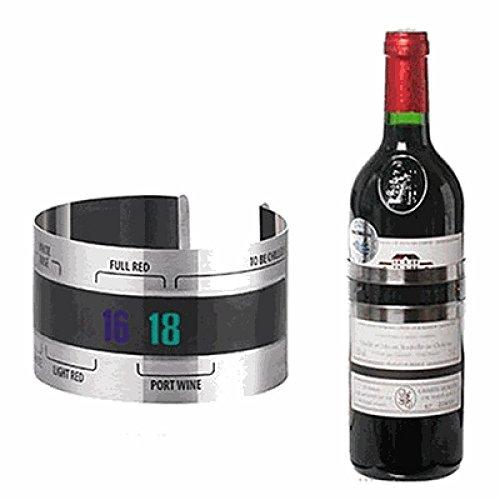 wuudi Wein Thermometer Edelstahl Kitchen Craft Bar Craft Connoisseur Deluxe Wein Flasche Thermometer