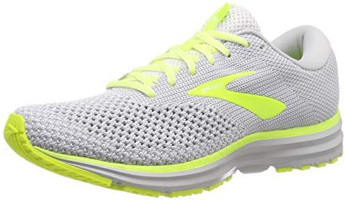 Brooks Revel 2, Zapatillas de Running para Hombre, Multicolor (Grey/Black/Nightlife 099), 42 EU