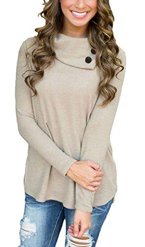 La Vogue Top Blouse Pull Shirt Femme Manche Longue Jumper Automne Gris