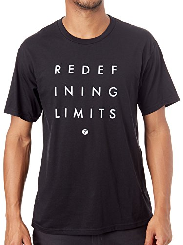 Seven MX Schwarz Redefine T-Shirt (Medium, Schwarz)