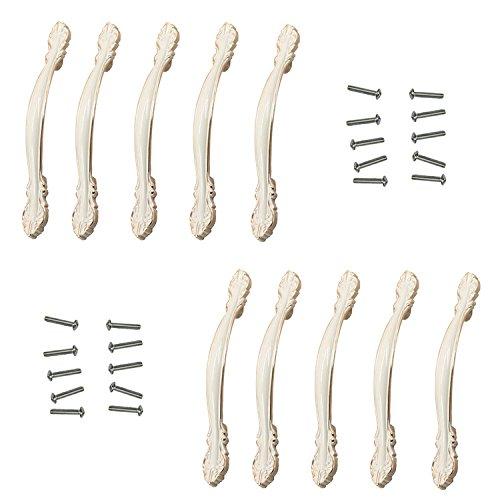 FBSHOP(TM) 10pcs Europäische Stil Kabinett Schublade Ivory Weiß Dresser zieht Türknopf/ MöbelKnopf /Möbelgriffe für Badezimmer ,Anrichte,Schränke, Schrank,Möbel Hardware (Türgriffe Innen In Bulk)