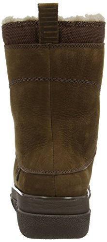 Fitflop  Sporty Lace Up Mukluk,  Damen Warmgefütterte, halbhohe Stiefel Brown (Chocolate Brown)