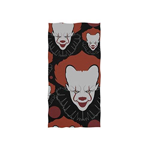 Magische Clown glücklich lustige weiche Spa Strand Badetuch Fingertip Handtuch Waschlappen für Baby Erwachsene Bad Strand Dusche Wrap Hotel Travel Gym Sport 30 x 15 Zoll