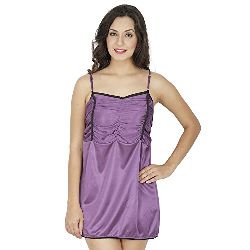 Klamotten Purple Babydoll Dress X98_Prpl  available at amazon for Rs.299