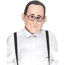 30d835c6f50e93 Le caoutchouc plantation TM 619219294027 Tête complète réaliste Homme  Masque avec barbe bouc et lunettes en latex accessoire ...