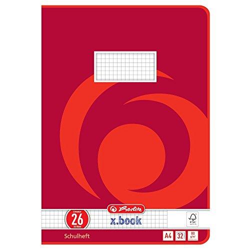 10/pezzi rosso A4 nero Herlitz 975433/Cartelline A4/PP con copertina trasparente