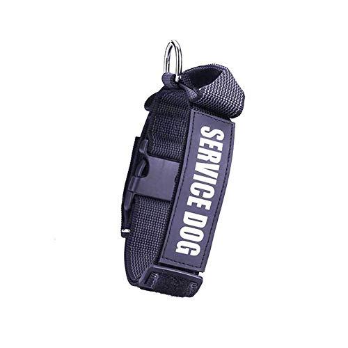 ZYJ Haustierhalsband, Hundehalsband aus Nylon mit Anti-Schock-Griff Haustierbedarf für große oder kleine Hunde,Black,S (76 Stück Geschirr Set)