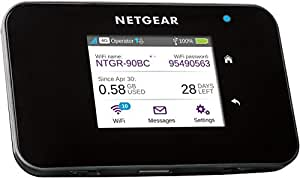 Netgear AC810-100EUS Hotspot Mobile 4G+ LTE Wi-FI 1200 Mbps Noir