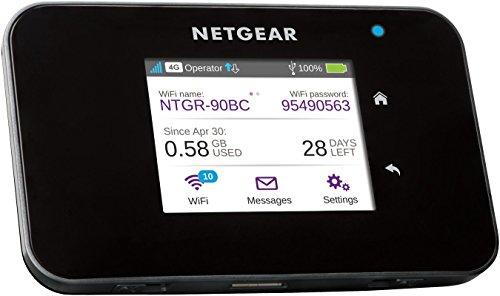 dual sim lte router Netgear AC810-100EUS Aircard Mobiler Hotspot Router (4G LTE, Cat 11, 600 Mbit/s, 11ac, Powerbank, ohne SIM-Lock) schwarz