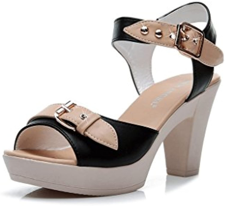 WANGXIAOLIN Sandalias De Tacón Alto Para Mujer (Tamaño : 37)