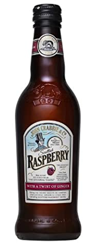 John Crabbie Non Alcoholic Scottish Raspberry Beer with a Twist of Ginger 330 ml (Pack of 6)