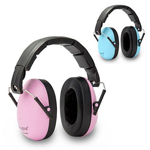 NENI Premium Gehörschutz in Pink für Kinder von 2-16 Jahren | Kapselgehörschutz - mitwachsend und verstellbar - die perfekte Alternative zu Ohrstöpseln