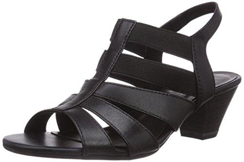Jana  28304, Sandales pour femme Noir - Noir