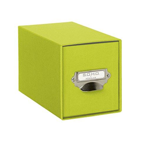 Rössler Papier 1327452320 - S.O.H.O. CD-Schubladenbox mit Griff, limette (So Box)