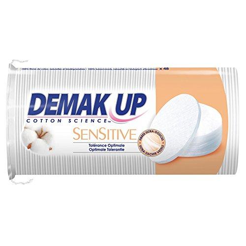 Demak'up Sensitive-Dischetti struccanti, confezione da 48 ovali, lotto di 4