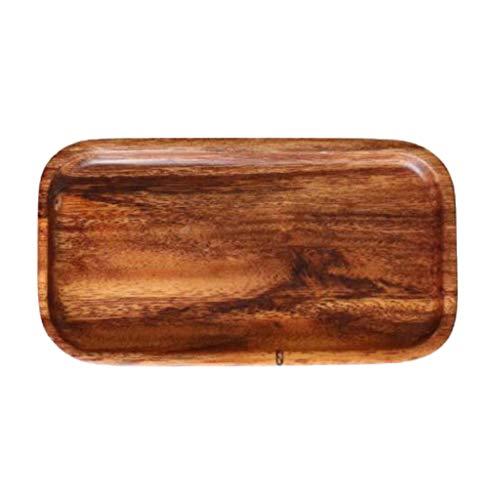 D DOLITY Holz-Schale Obstschale Schüssel Salatschüssel Dekoteller - Rechteckige S