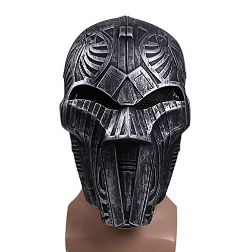 SDKHIN Star Wars Sith Lord Maske Helm Spiel Film Cosplay Halloween Weihnachten Maskerade Maske Performance Show Kostüm Requisiten,Black-OneSize