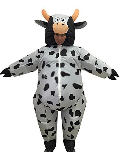 Aufblasbares Kostüm Milchkühe Fasching Karneval Als Bild
