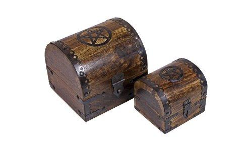 Madera spielerei 73627–80–Campesinos kasse pentagrama Set