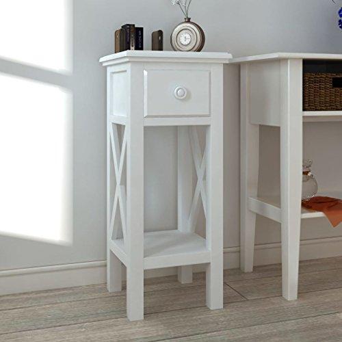 Mewmewcat tavolo consolle ingresso tavolino laterale per telefono con cassetto bianco