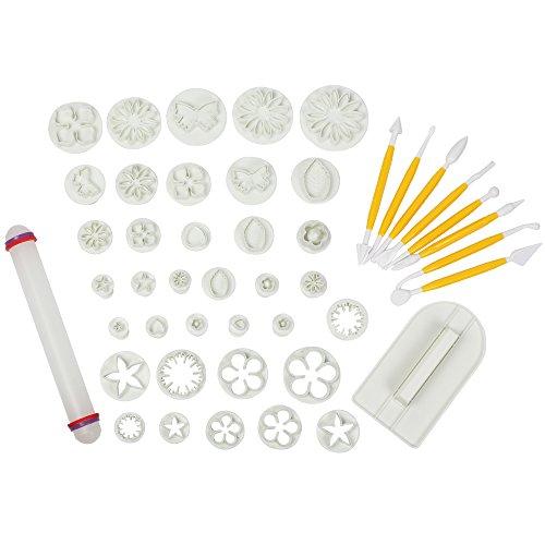 lohome Fondant Kuchen dekorieren Kit, 14Sets (46pcs) Cookie Mould Cutter Tool Dessert DIY Maker 46 PCS (Kuchen Dekorieren Kit)