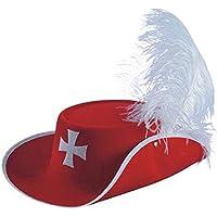 CARNIVAL Novidea Cappello Tre Moschettieri D Artagnan Colore Rosso Carnevale 39a8bb2d8f98